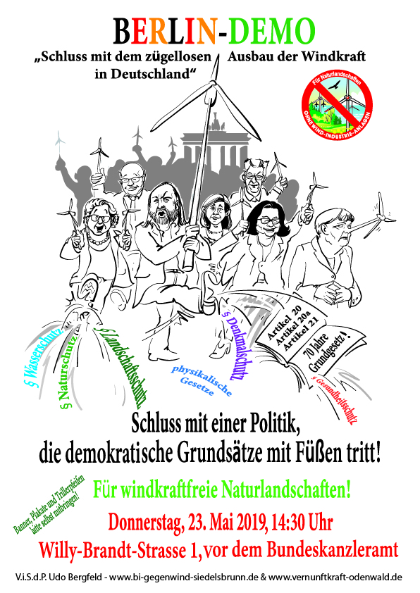 Anti Windkraft Demo in Berlin